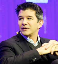 Uber's Chief Executive Travis Kalanick says it is now possible to book a car, find a restaurant and book a table for dinner and book flights via the Uber app. Image: Wikipedia