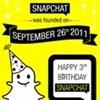 Happy third birthday Snapchat (Infographic)