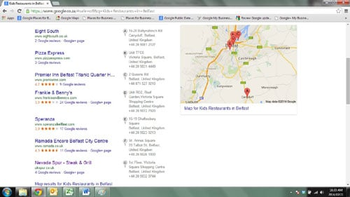 New entrant to UK restaurant sector dominates local search