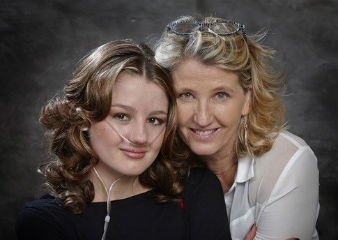 A recent picture of Jen and her mom, Gabi Lowe, taken at home