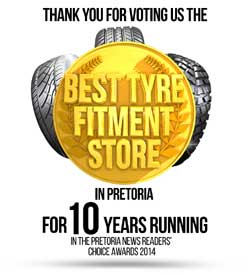 """Pretoria News readers vote Tiger Wheel & Tyre the """"Best Tyre Fitment Store"""""""
