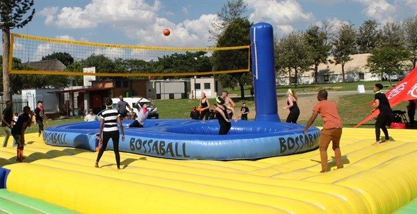 Zinto boosts 5FM team with its Bossaball marketing initiative