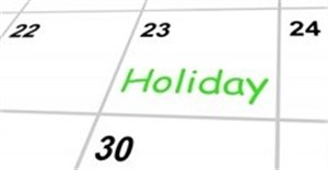 Plan ahead for public holidays
