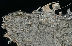 Beirut from space... The report says that as computers were shared, hacking just one would enable the hackers to access information on a number of users. (Image: NASA)