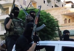 'Rehana the ISIS slayer' turned out to be nonsense. (Image of ISIS fighters extracted from YouTube)