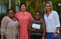 Thrilled to be a winner in the Typek/Schoolyard competition (from left): Durban Girls' High School parent Nokwanda Selelo, Roanne Scott (Schoolyard Marketing), pupil winner Tando Selelo and Tasha Oosthuizen (Sappi).
