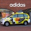 Branding metered cabs boost adidas new brand