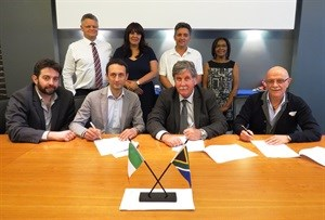 False Bay TVET College signs a MOA with Tomasso Silla Autobody Works Pty Limited<br><br>Front: Mr Angelo Ruffini (TOMMASSO SILLA Autobody Works PTY Limited: Executive Director), Tommaso Silla (Tommaso Silla Autobody Works PTY Limited: Chief Executive Officer and Managing Director), Cassie Kruger (False Bay TVET College: Principal and Chief Executive Officer), Dr Claudio Ruffini (FinMasters)<br><br>Back: Steve Reid (False Bay TVET College: Centre of Entrepreneurship Manager), Karin Hendricks (False Bay TVET College: Deputy Principal), Jeremy Schuster (False Bay TVET College ERD Programme Manager), Christiana Nel (False Bay TVET College: Linkages and Partnership Manager)
