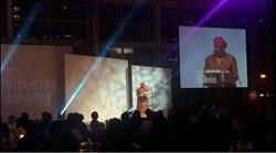 Eskom's Ayanda Nakedi presents the Outstanding Woman in Power Award