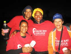 False Bay College staff volunteer for the Two Oceans Marathon