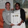 Ntokozo Mbuli with WESSA Chairman Richard Lewis