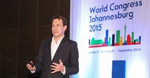 Daniel Munslow talking at IPRA
