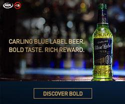 United Stations delivers for Carling Blue Label beer
