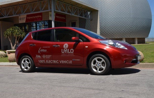 has partnered with Nissan South Africa to use one of its EV models.