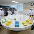 Employees test margarine at Unilever's headquarters in Rotterdam.