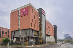 This photograph is of the recently opened City Lodge Hotel Newtown, the 57th hotel in the City Lodge Hotel Group.