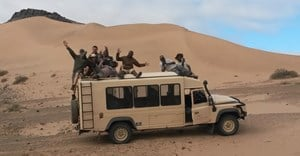 The eight students at the Wilderness Safaris Damaraland Adventure Camp where the first part of the course was offered - photo by Gerhard van Niekerk.