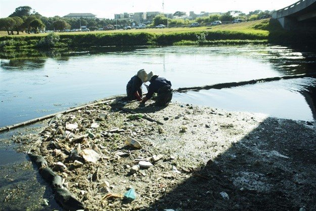 The Black River is cleaned daily. Photo: Masixole Feni