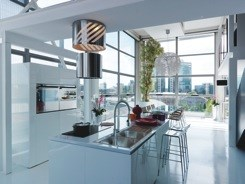 Franke's clean-lined Cascade range of kitchen systems