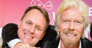 Jeff Paterson with Richard Branson after winning the Pitch to Rich competition