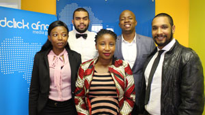 Back row from left: Lyle Sauls and George Losaba; Front row from left: Sylvia Bosega, Didimalo Molefe and Brent Willie