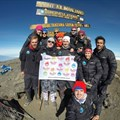 The Kilimanjaro Challenge 2014 team at the summit