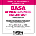 "Upcoming BASA Africa Business Breakfast spotlights ""Creative Change"""