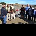 L-R: Divan Swanepoel, quarry manager, Buhle Dlulane,ECDC chief executive, Loyiso Jiya,ECDC deputy chairman, Nomveliso Nyukwana, mayor of,Emalahleni, Marius Prinsloo from Tau Pele, Mcebisi Limba and Moss Magwebu, both directors of Blue Crane Resources and Minerals.