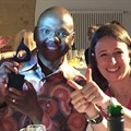 Magna Carta CEO, Vincent Magwenya, celebrates in Berlin last night