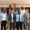 Alon Lits, (Uber GM SSA), Loic Amado (Head Of Expansion SSA), Bertrand Nembot Launcher and some of the first driver-partners in Kampala