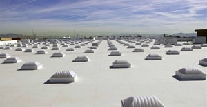 Reflective roof and skylights on a Walmart store, Las Vegas, ,