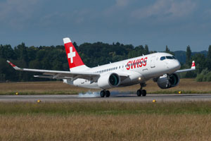 The new Swiss Bombardier CS100 is the most advanced and innovative aircraft in its class in the world