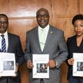Taiwo Oyedele, partner PwC; Folarin Ogunsanwo, chairman LIRS; and Ebi Atawodi, general manager, Uber West Africa; during the presentation of Uber Driver-Partner Tax Briefing Note recently in Lagos.