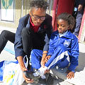 School shoes for students of Injonga Primary