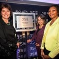JSE CEO, Nicky Newton-King, Cape Town mayor, Patricia de Lille, and JSE chairperson, Nonkululeko Nyembezi-Heita, at the opening of the JSE Exchange Hub Cape Town.