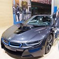 BMW i8 electric supercar. 