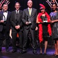 Representatives of the winners in the category of Best Safety Performer (from left to right) - Hoosen Ahmed and Paulo Franco of FPT (for Point Precinct), Jannie Roux of Bidfreight Port Operations (for Maydon Wharf Precinct), David Leisegang of Bidvest Tank Terminals (Island View Precinct) and Michelle Phillips representing Transnet Port Terminals Pier 1 (for Container Precinct), pictured with TNPA GM: Legal, Risk, Compliance and Regulatory, Sagree Chetty (far right).