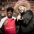 KFC Head cook, Sam Mdluli (who has been with KFC for 25 years) and J'Something
