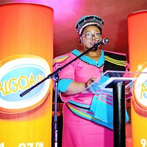 The Eastern Cape MEC of Health, Dr. Pumza Dyantyi, speaking at the launch of the Algoa FM Big Walk for Cancer on Friday, 16 September 2016 at the Algoa FM studio in Port Elizabeth