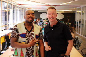 John Paul and Thabang Phoshoko of La Funk