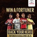 Toyota Fortuner 4X4 urges SA to vote for one of four sporting heroes. Why?