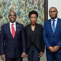 L – R: Adebimpe Ihekuna, Head Banking Products FirstBank; Gbenga Shobo, Deputy Managing Director, FirstBank; Ebi Atawodi, General Manager for Uber in Nigeria and Babatunde Lasaki, Head Media and External Relations FirstBank