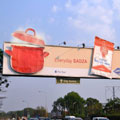 Alliance Media's steaming Sadza billboard