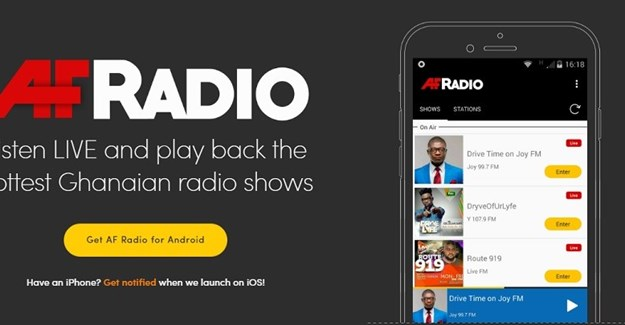 Ghanaian startup AF Radio launches playback app