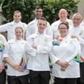 South African Senior National Culinary Team: Back row: Henrico Grobbelaar, Dion Vengatass, Trevor Boyd, Heinz Brunner. Front row: Blake Anderson, Kirstin Hellemann, Arno Ralph, Minette Smith.