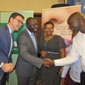 BASF East Africa team with Cabinet Secretary Ministry of Agriculture Livestock and Fisheries Hon. Willy Bett