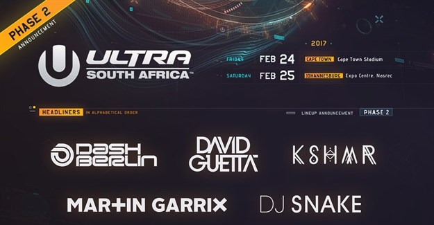 Ultra South Africa adds Dash Berlin, KSHMR, DJ Snake to lineup