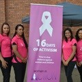 Women in Action participate in 16 Days of Activism helping victims of trauma break the silence