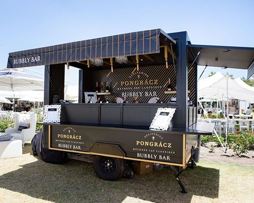 Mobile bubbly bar for Pongracz