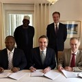 (Left to right) Alain Ebobisse, CEO, Africa50, Ibrahim Hassan Hadejia, deputy governor of Jigawa State, Terje Pilskog, executive vice president, Scatec Solar, Børge Brende, the Norwegian foreign minister and Mark Davis, investment director, Norfund.